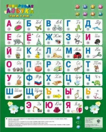 Runājošā ĀBECE - phonetic educational game poster for beginners learning  (RU)