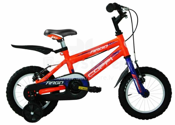 Coppi Argo Collas 12'' Art.CMU12000 Orange Bērnu divritenis (velosipēds) ar palīgriteņiem[made in Italy]