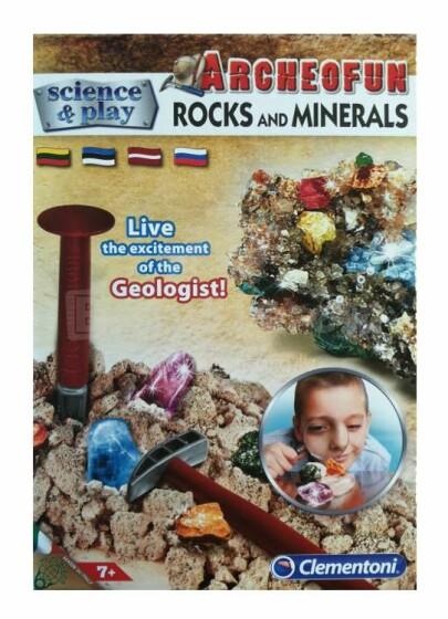 Clementoni Minerals Art.60431 Dig ieži un minerāli
