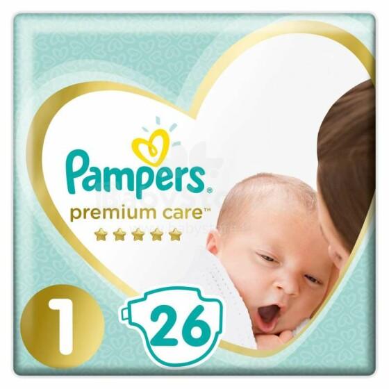 Pampers Premium Care Art.P04G989 Bērnu autiņbiksītes S1 izmērs no 2-5kg, 26gab.