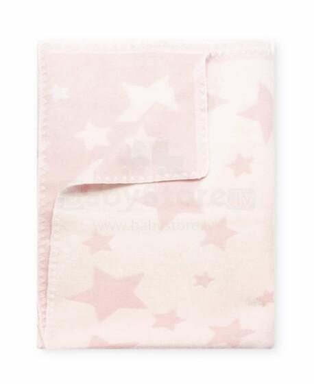 Kids Blanket Cotton  Stars Art.56950 Pink Dabīgas kokvilnas sedziņa (sega)/plediņš bērniem 100x140cm,(B kvalitātes kategorija)