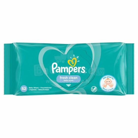 Pampers Fresh Clean  Art.P04H176 mitrās salvetes,52 gab
