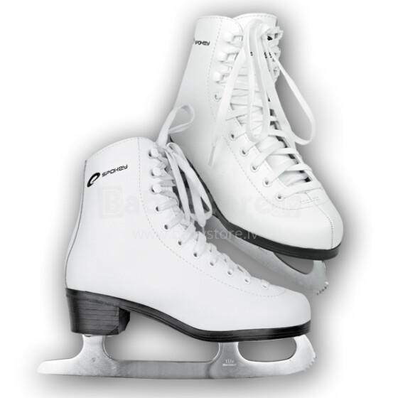 Spokey Classic Fugiure White Ice Skates Art.832335 Sieviešu baltas klasiskas ledus slidas