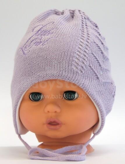 Aliap Art.4312 Violet  Bērnu kokvilnas cepure ar austiņiem Pavasaris-Rudens