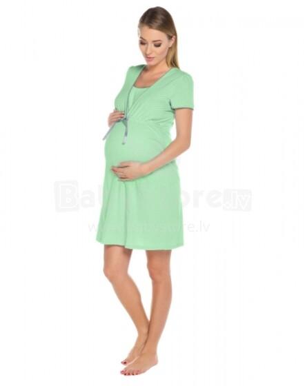Italian Fashion Felicita  Art.21711 Green Kokvilnas naktskrekliņš grūtniecēm/barošanai