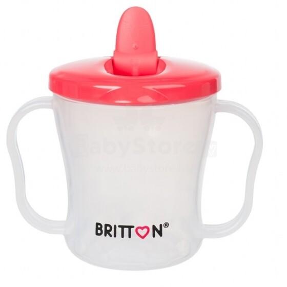Britton First Cup Art.B1523 Pink Кружечка-непроливайка с  носиком, 200мл