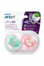 Philips Avent Ultra Air Art.SCF349/12 Silikona māneklītis, 18M+, (2 gab.)
