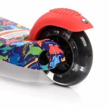 Meteor®  Scooter Tucan Graffiti Led  Art.22504  Bērnu skūteris augstāka kvalitāte ar gaismas effektiem