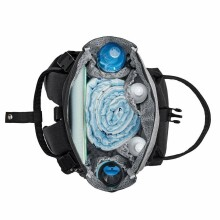 KinderKraft Moonpack Art.KAMOON00GRY0000 Black Liela, ērta un stilīga soma māmiņām